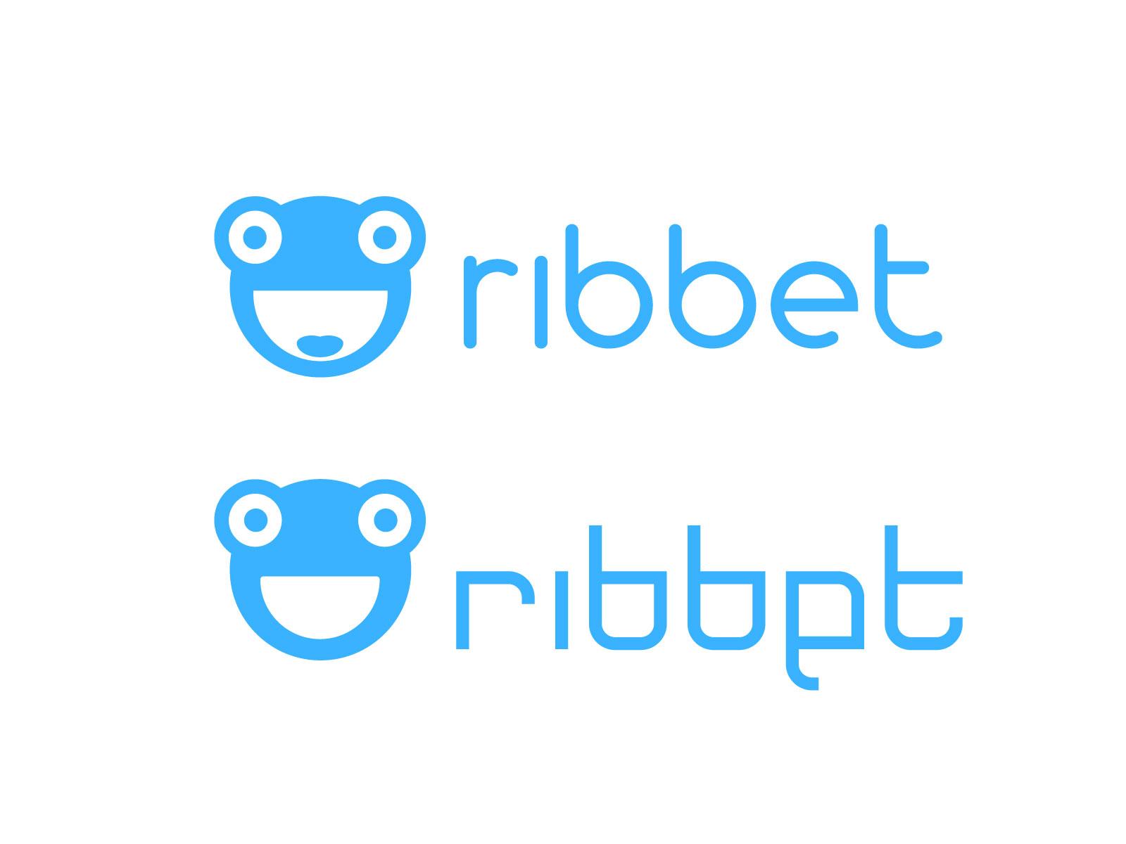 frog mascot ribbet logo design