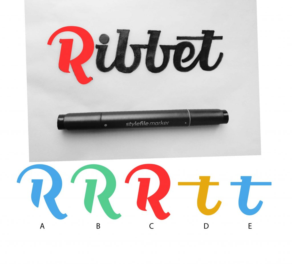 logo lettering versions ribbet