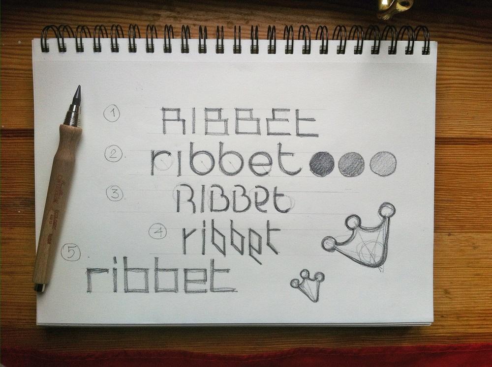 ribbet case study logo design