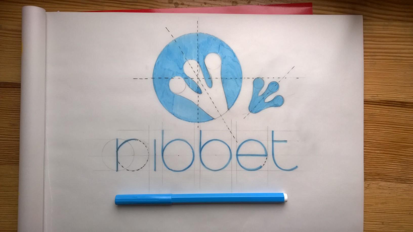 ribbet logo design mascot