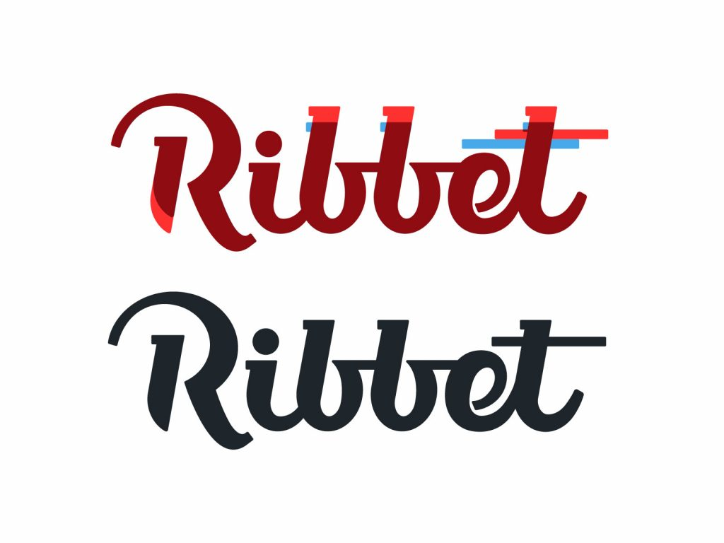 ribbet logo lettering process