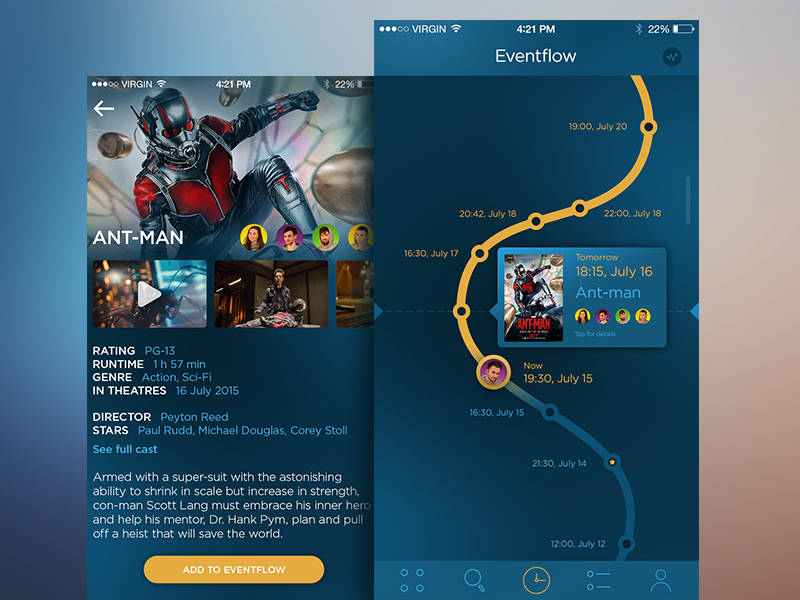 Application screens by Tubik Studio