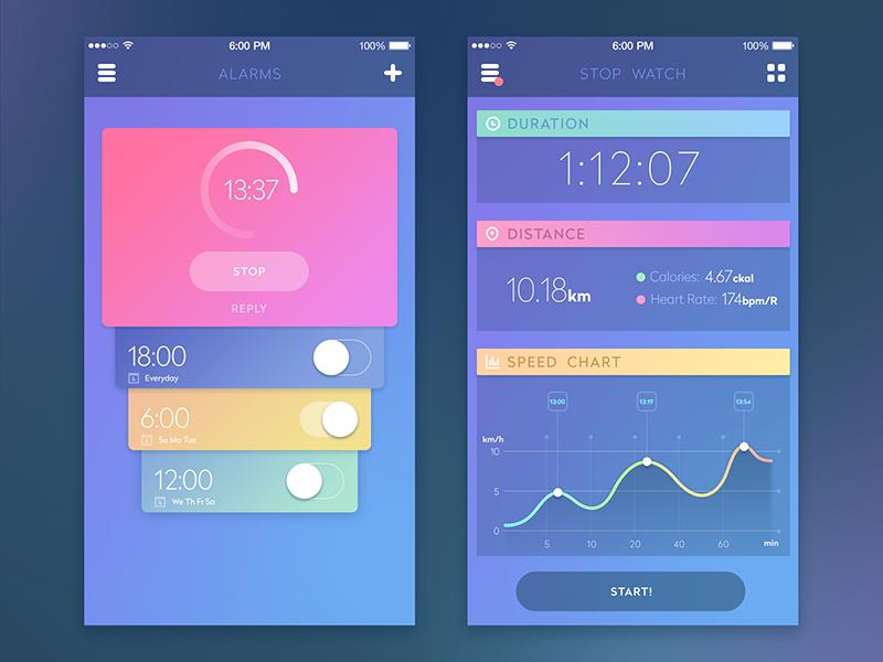 Sport App by Tubik Studio