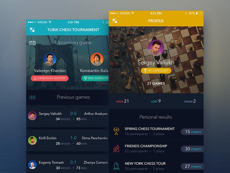 Chess app by Tubik Studio