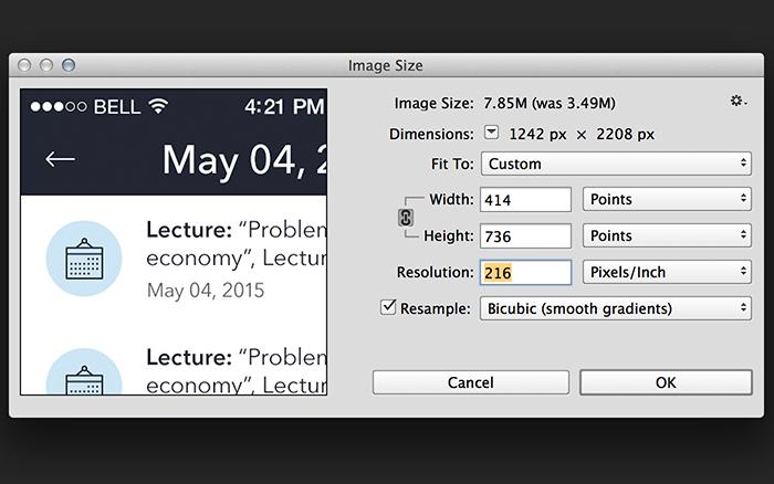 Tubik Studio Photoshop optimization