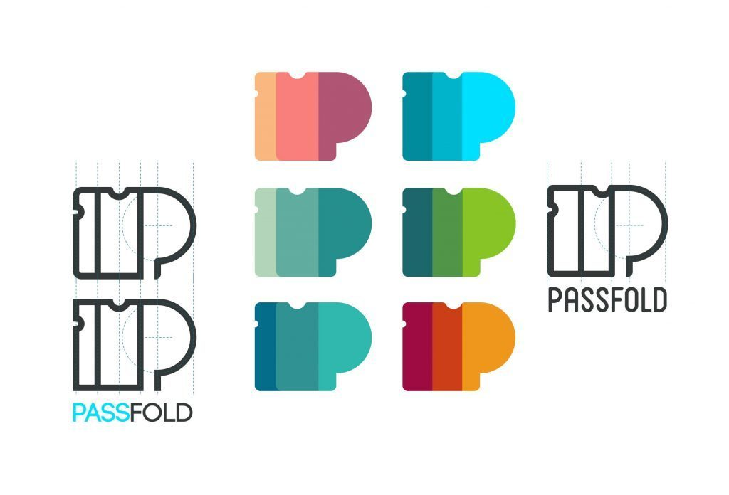 passfold logo options design process