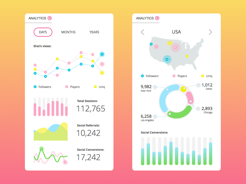 analytics app ui design tubik