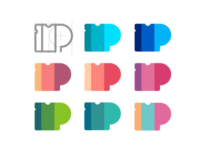 passfold logo design tubik