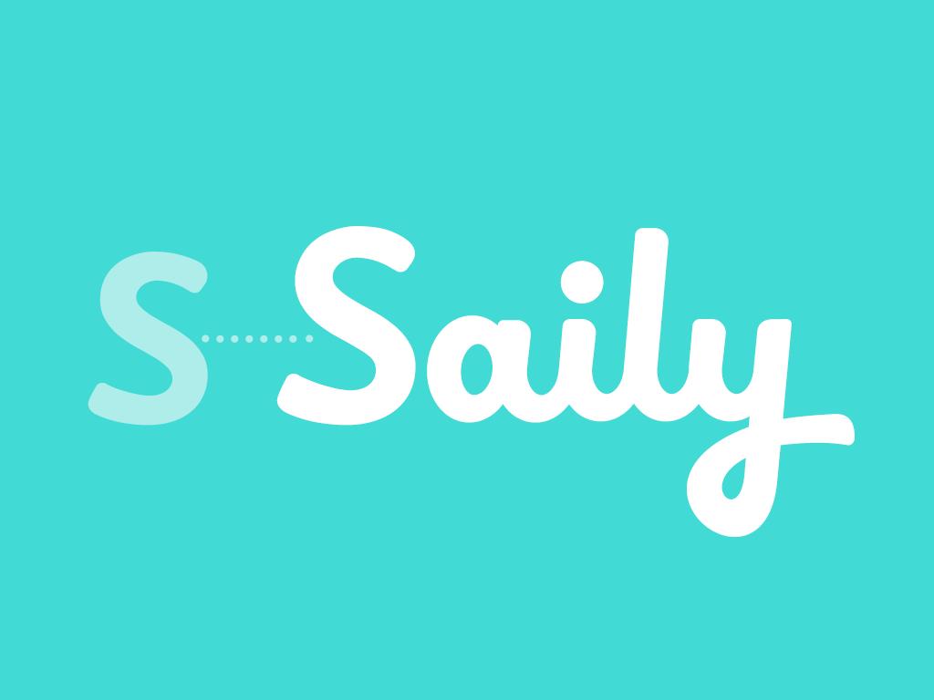 Saily logo design lettering