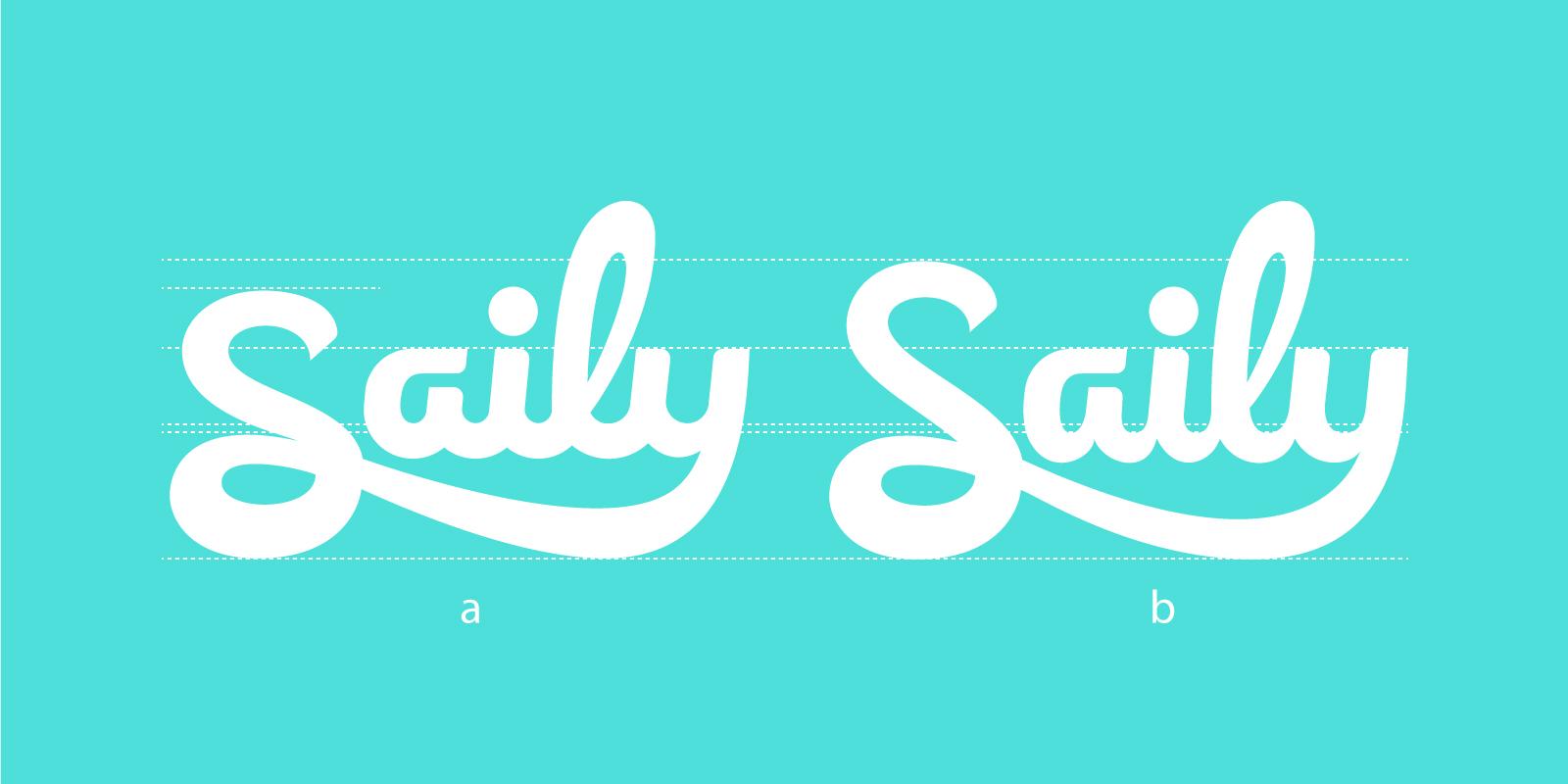 Saily logo design
