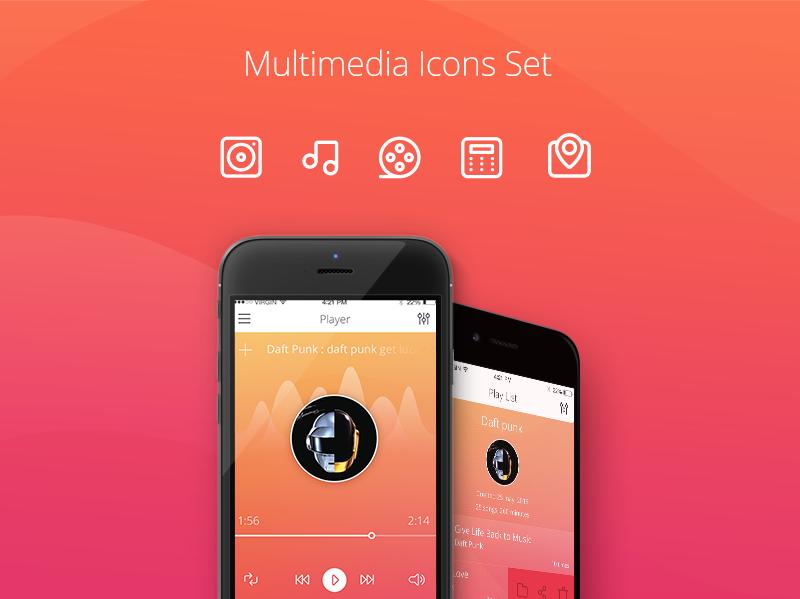 Tubik Studio icons presentation