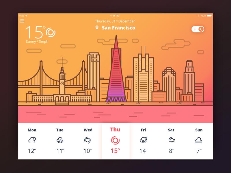 illustration weather tubik studio