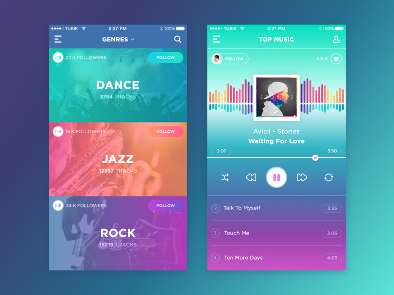 tubik studio music_app