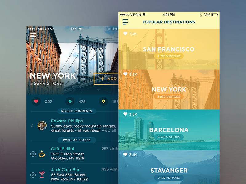 tubik studio traveller app-UI-1