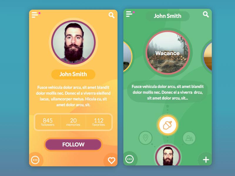 emotional app ui design
