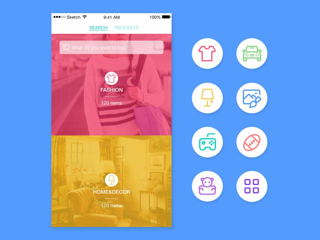 saily app UI design