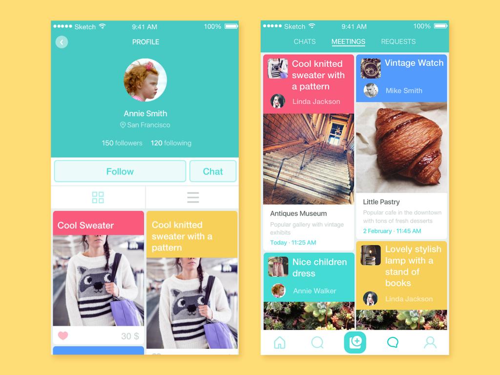 saily ui design tubik studio app screens