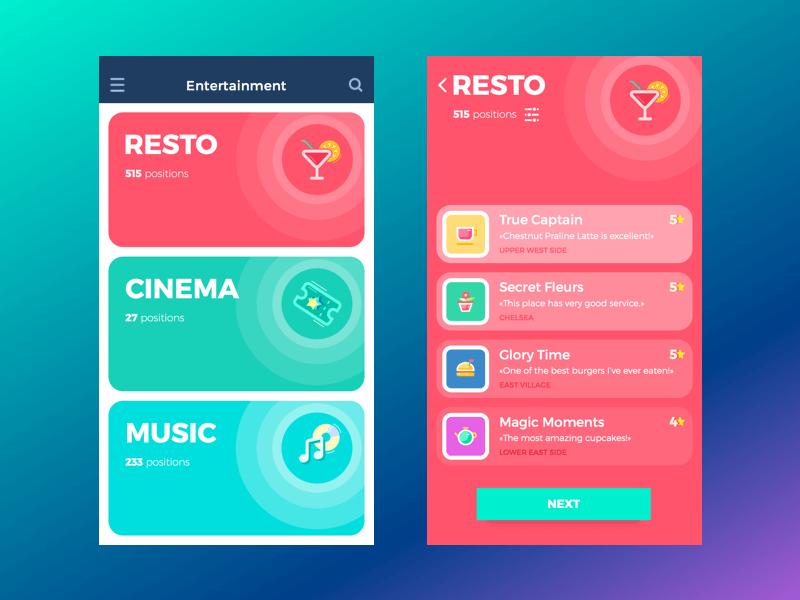 mobile UI concept