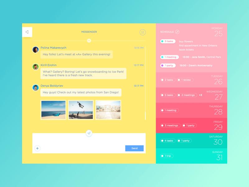 messenger UI concept
