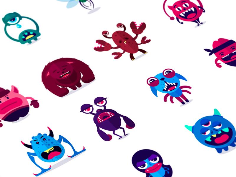 monsters tubikstudio illustration