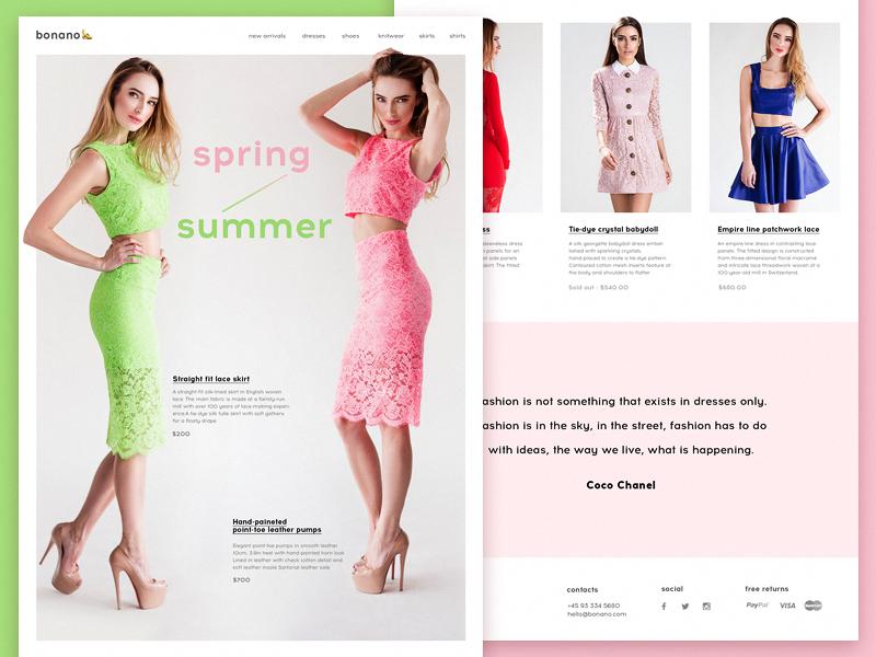 tubik fashion ui design