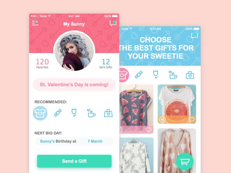 tubik studio app-ui-design gift panic