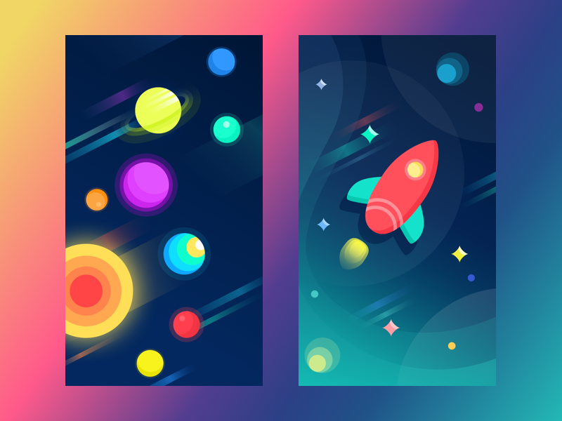 tubikstudio space wallpapers