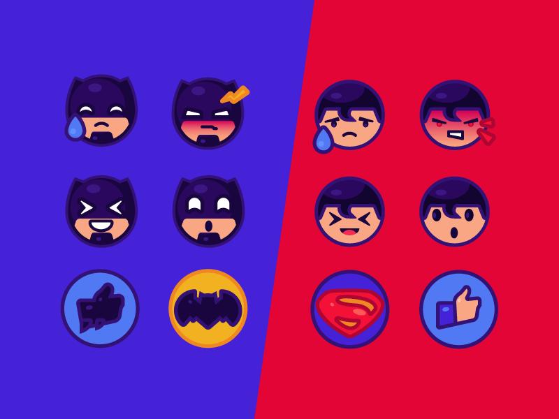 batman vs superman emoji-by-tubik-studio