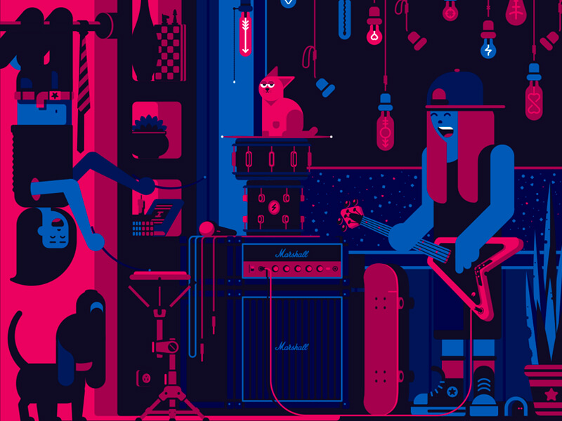 tubik studio graphic-design illustration