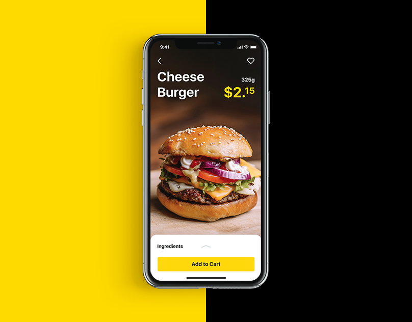 ui design burger app