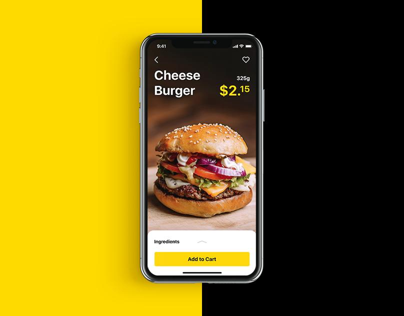 ui design burger app