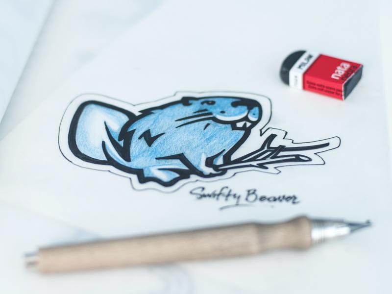 swiftybeaver mascot tubik studio design