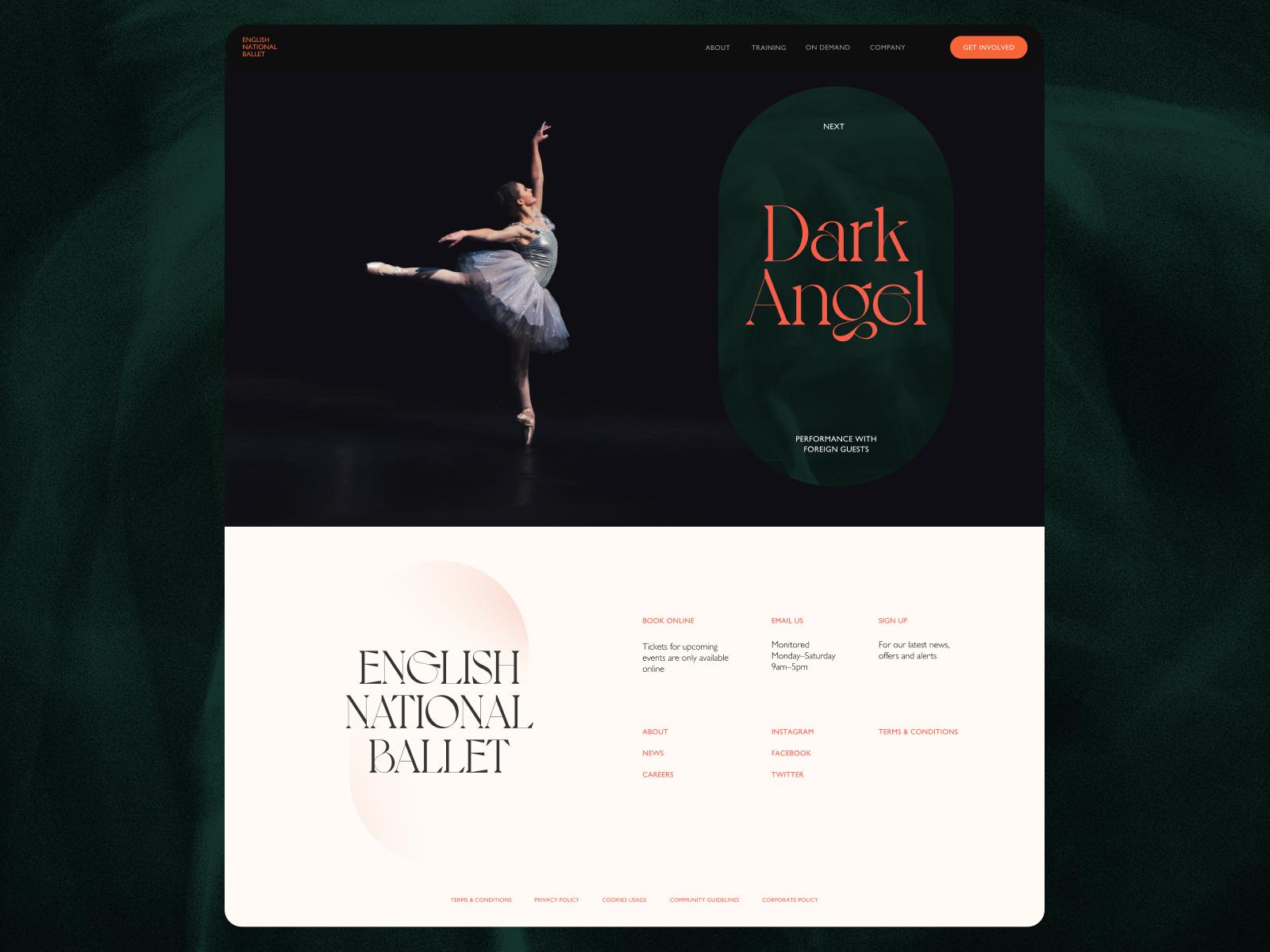 ballet company website tubik studio design