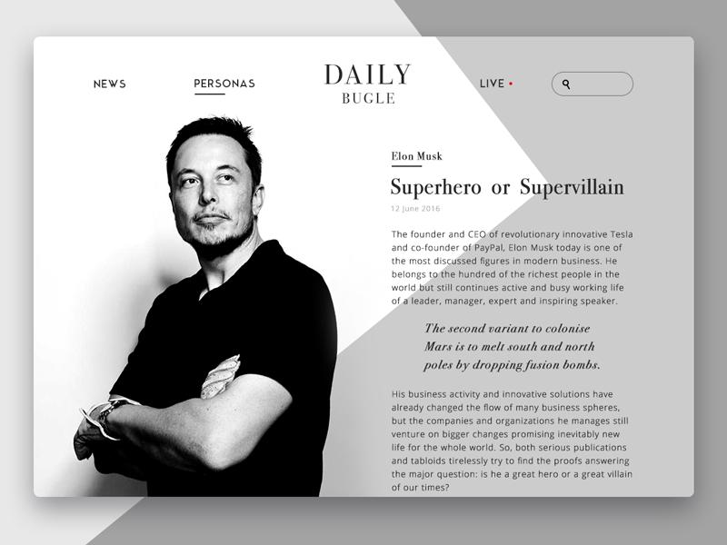 online magazine design tubik studio