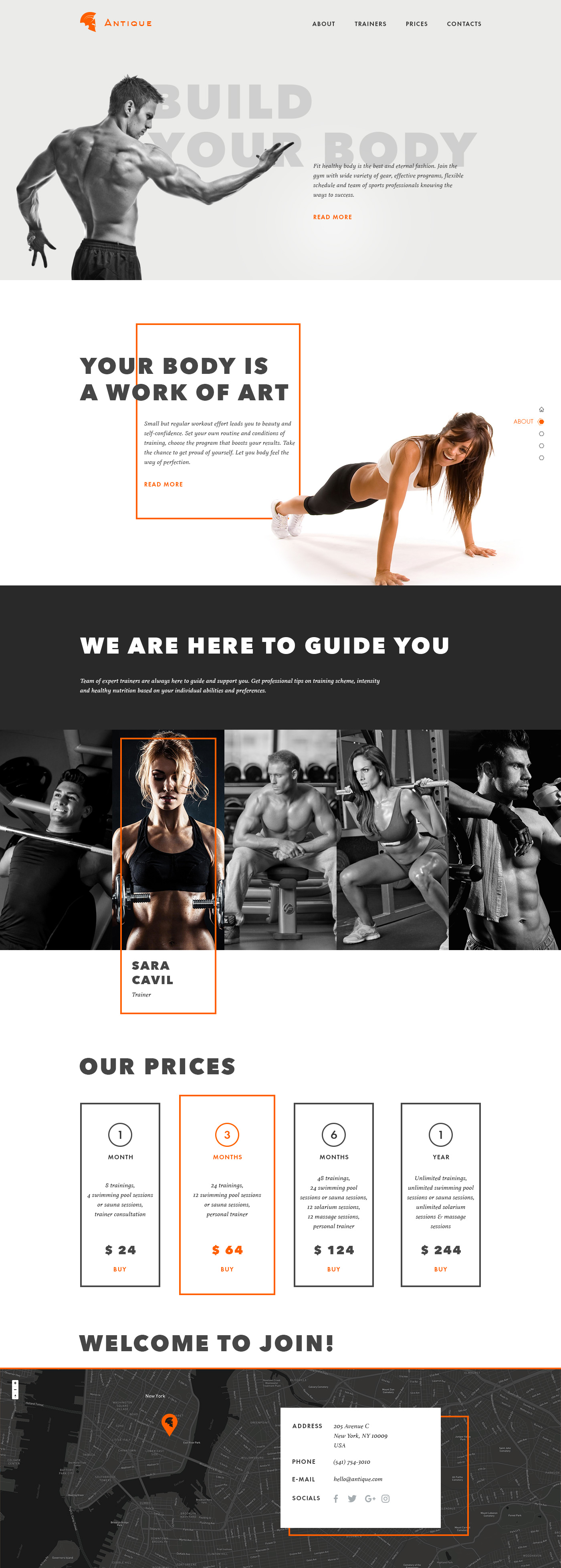 gym landing page concept by_tubik