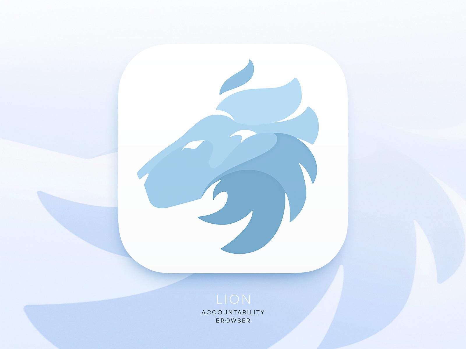 Lion browser logo tubik-design big