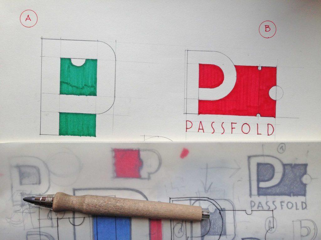 Passfold logo design process