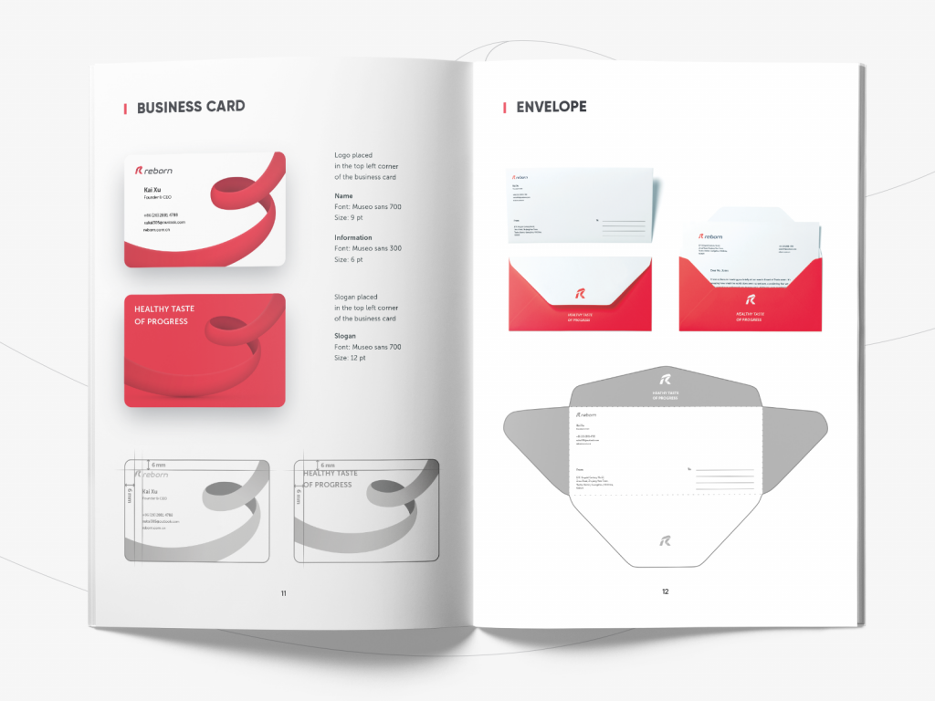 Styleguide reborn logo design tubik