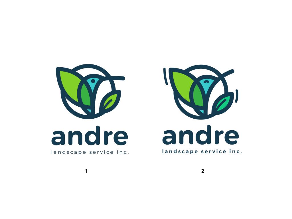 andre logo birds tubik studio