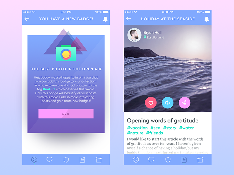 blog app design tubik studio
