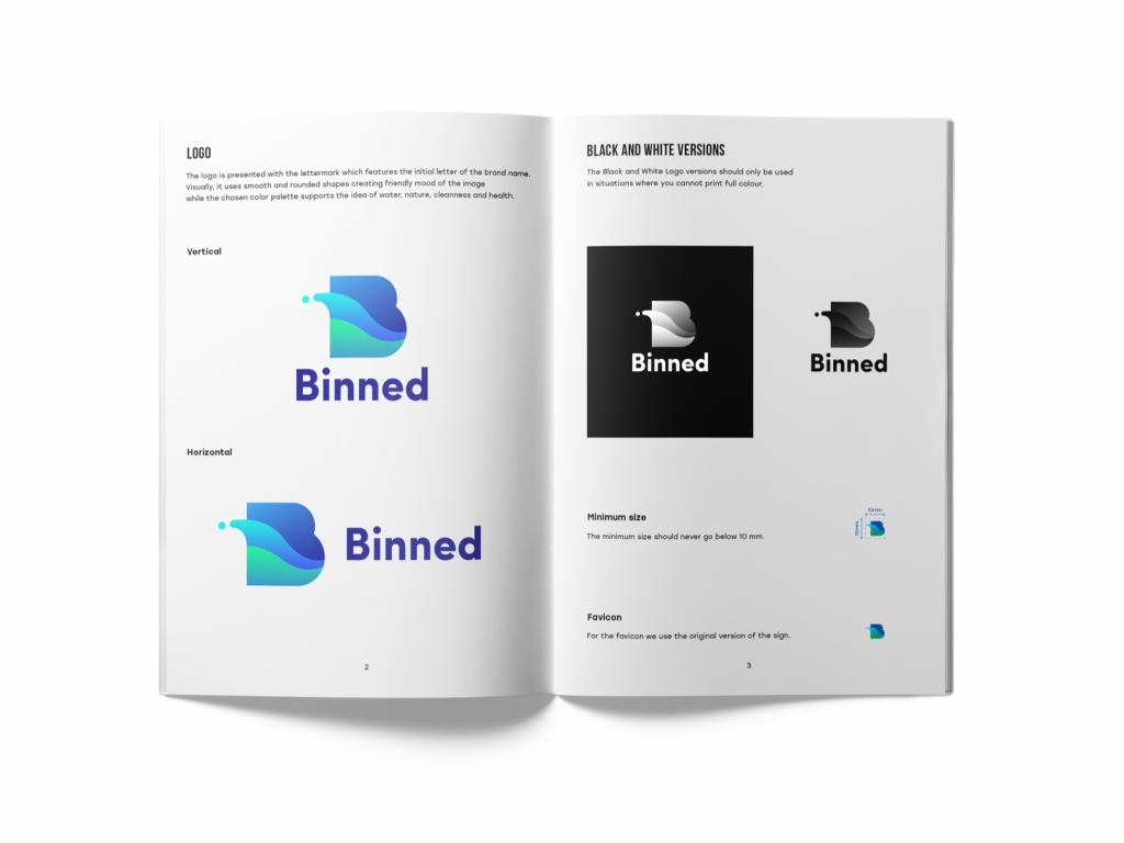 guidelines branding tubik design binned logo