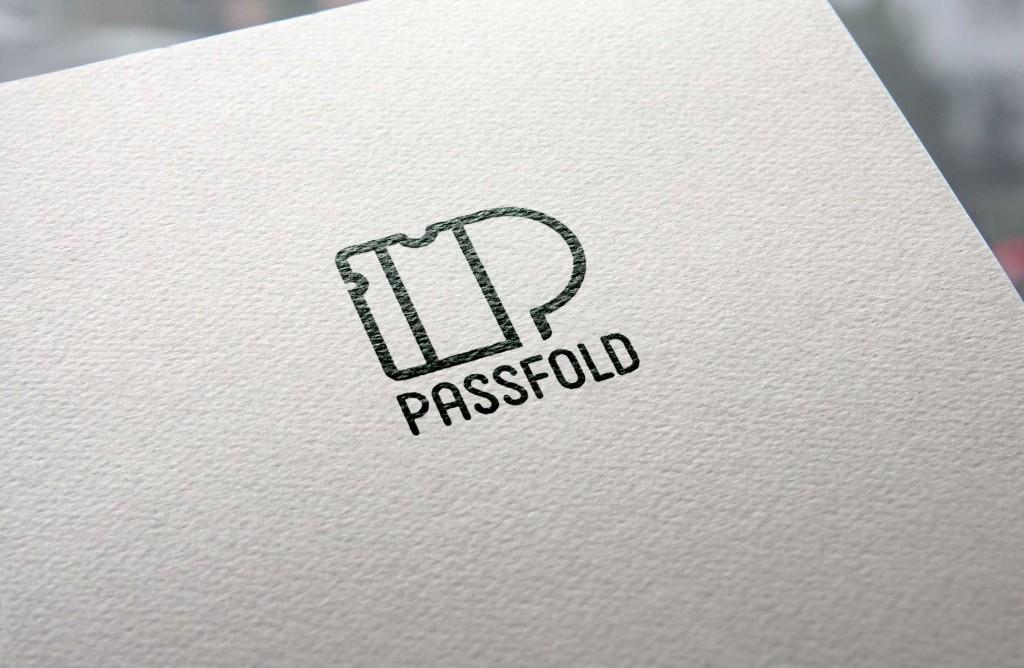 passfold logo stroke design