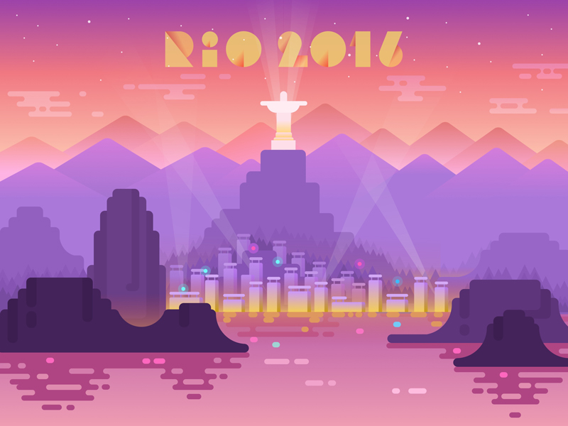 Rio 2016 Illustration tubik studio