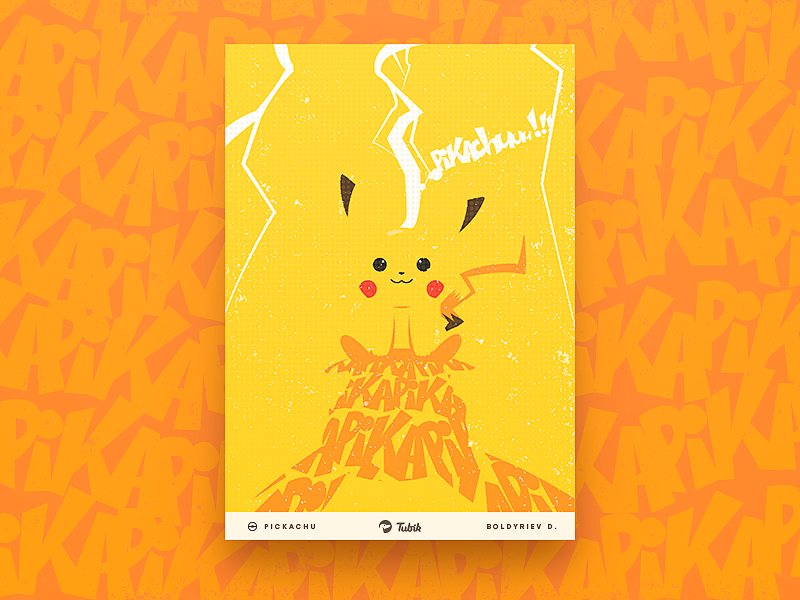 tubikstudio illustration pickachu poster design