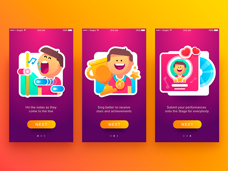 tutorial singify tubik illustration_flat_app_ios_design