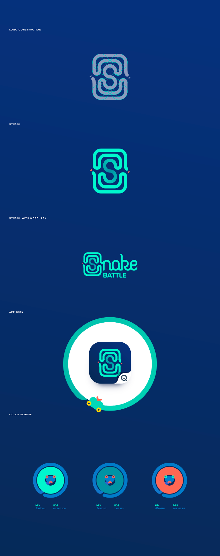 Snake Battle logo design