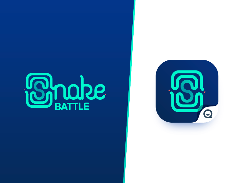 snake battle logo for game app