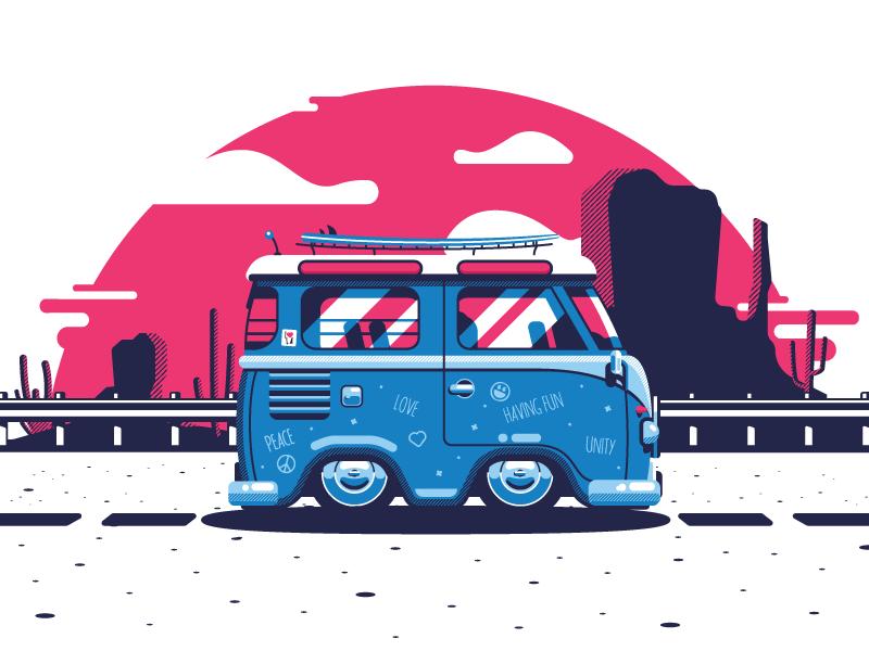 bus illustration tubik