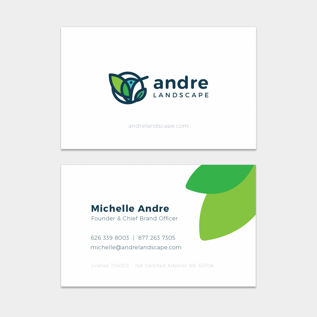 business card horizontal andre