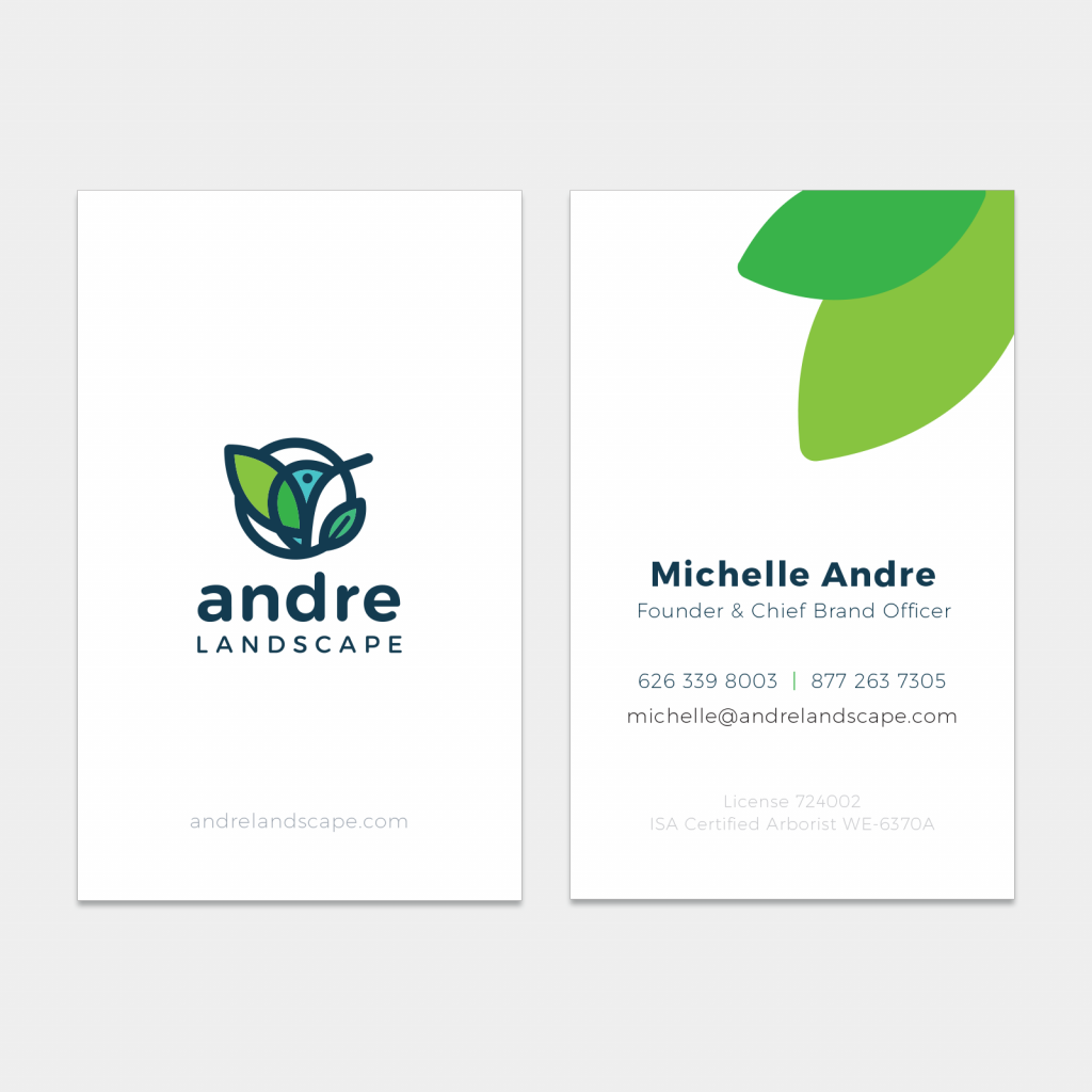 business card andre